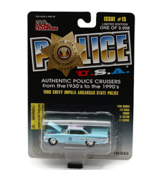 1960 Chevy Impala Arkansas State Police POLICE USA Issue #15 Diecast 1:64 FREE SHIPPING