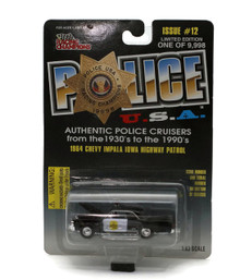 1964 Chevy Impala Iowa Hwy Patrol POLICE USA Issue 12 Diecast 1:63 FREE SHIPPING