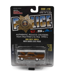 1960 Chevy Impala North Dakota State Police POLICE USA Diecast 1:64 FREE SHIPPING