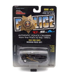 1950 Ford Coupe Michigan Police POLICE USA LE Diecast 1:58 FREE SHIPPING
