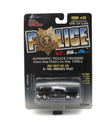 1957 Chevy Bel Air St Paul Minn Police POLICE USA LE Diecast 1:61 FREE SHIPPING