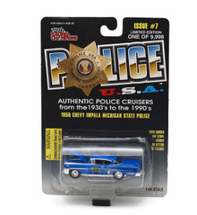 1958 Chevy Impala Michigan State Police POLICE USA Diecast 1:64 FREE SHIPPING