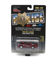 1996 Chevy Camaro Kansas City Hwy Patrol POLICE USA Diecast 1:59 FREE SHIPPING