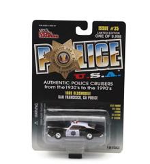 1969 Oldsmobile San Fransico Police RACING CHAMPIONS POLICE USA 1:58 FREE SHIP