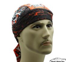Bandana Headwrap DANBANNA DELUXE Star Skull Du-Rag Skull Cap
