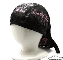 Bandana Headwrap DANBANNA DELUXE LADY BIKER Du-Rag Skull Cap