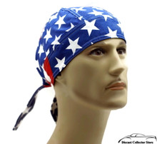 Bandana Headwrap DANBANNA DELUXE American Flag Du-Rag Skull Cap