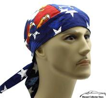 Bandana Headwrap DANBANNA DELUXE Patriotic Du-Rag Skull Cap