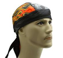 Bandana Headwrap DANBANNA DELUXE Daredevil Flames Du-Rag Skull Cap