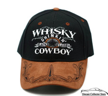 Hat - Whiskey Drinking Cowboy w/ Faux Suede Preformed Bill FREE SHIPPING