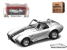 1964 Shelby Cobra 427 S/C Road Signature Diecast 1:43 Scale Silver FREE SHIPPING