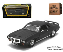 1969 Pontiac Firebird Trans Am ROAD SIGNATURE Diecast 1:43 Matte Black FREE SHIPPING