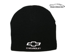 Hat - Chevrolet Cuffless Knit Beanie W/Embroidered Logo Black FREE SHIPPING