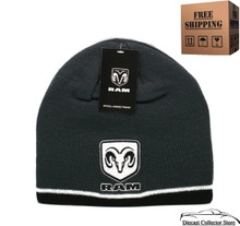 Hat - Ram HEMI Cuffless Knit Beanie W/Embroidered Logo Charcoal FREE SHIPPING