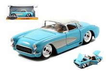 1957 Chevy Chevrolet Corvette BIGTIME MUSCLE Diecast 1:24 Scale Sky Blue 98162