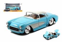 1957 Chevy Chevrolet Corvette BIGTIME MUSCLE Diecast 1:24 Scale Sky Blue 98162