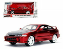 1995 Honda Integra Type-R (Japan Spec) JDM TUNERS Jada Diecast 1:24 Scale Red Metallic 30932