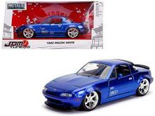 1990 Mazda Miata JDM Tuners Jada Diecast 1:24 Scale Metallic Blue Metallic 30942