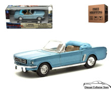 1964 1/2 Mustang Convertible NEWRAY Diecast 1:43 Scale Blue FREE SHIPPING