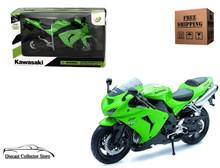 Kawasaki Ninja ZX-10R Motorcycle NEWRAY Diecast 1:12 Scale Green FREE SHIPPING