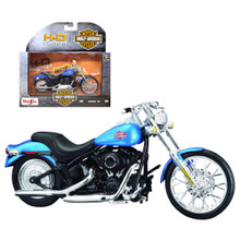 HARLEY DAVIDSON 2002 FXSTB Night Train Diecast 1:18 Scale Series 36 Blue