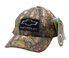 Hat - Chevrolet RealTree Camouflage & Black Ball Cap Adjustable FREE SHIPPING