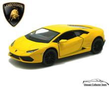 Lamborghini Huracan LP610-4 KINSMART Diecast 1:36 Scale Yellow FREE SHIPPING