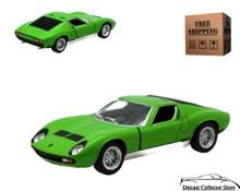 Lamborghini Miura P400 Kinsmart Diecast 1:34 Scale Green FREE SHIPPING