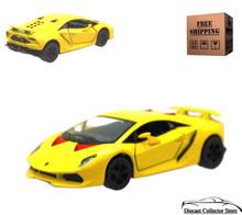 Lamborghini Sesto Elemento Kinsmart Diecast 1:38 Scale Yellow FREE SHIPPING