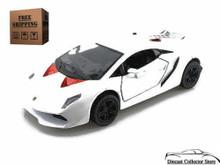 Lamborghini Sesto Elemento Kinsmart Diecast 1:38 White FREE SHIPPING