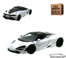 McLaren 720S Kinsmart Diecast 1:36 Scale Silver Gray FREE SHIPPING