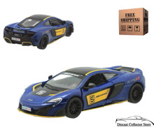McLaren 675 LT Kinsmart Diecast 1:36 Scale Blue FREE SHIPPING