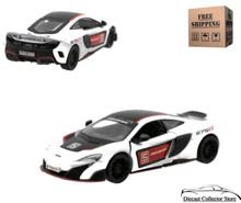 McLaren 675 LT Kinsmart Diecast 1:36 Scale White FREE SHIPPING
