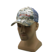 Hat - TRUMP  2020 Camouflage Mesh Vented w/ Flag Ball Cap FREE SHIPPING