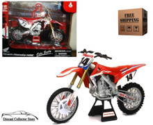 Team Honda HRC 450 #14 Cole Seely NEWRAY Diecast 1:12 Scale 57933 FREE SHIPPING