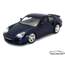 1999 Porsche 911 Turbo 966 BBURAGO Diecast 1:18 Blue 3367