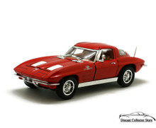 1963 Chevrolet Corvette SUNNYSIDE Diecast 1:32 Scale Red FREE SHIPPING