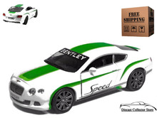 2012 Bentley Continental GT Speed KINSMART Diecast 1:38 White FREE SHIPPING