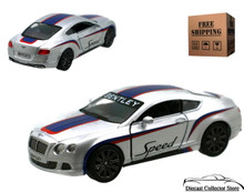 2012 Bentley Continental GT Speed KINSMART Diecast 1:38 Silver FREE SHIPPING