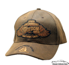 Hat - 2nd Amendment Liberty Freedom Country Premium Oil Skin Cap FREE SHIPPING