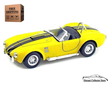 1965 Shelby Cobra 427 SC KINSMART Diecast 1:32 Scale Yellow FREE SHIPPING