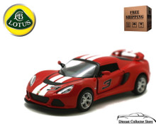 2012 Lotus Exige S w/ Stripes KINSMART Diecast 1:32 Scale Red FREE SHIPPING