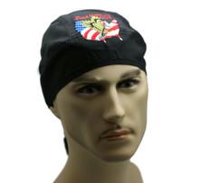 Bandana Headwrap Light Weight Cotton Du-Rag Skull Cap Born in the USA Embroidery