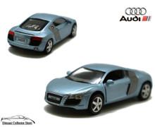 AUDI R8 Kinsmart Diecast 1:36 Scale w/Pull Back Action KT5315D Blue
