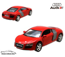 AUDI R8 Kinsmart Diecast 1:36 Scale w/Pull Back Action KT5315D Red