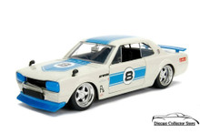 1971 Nissan Skyline GT-R JDM TUNERS Diecast 1:24 Scale Ivory & Blue