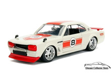 1971 Nissan Skyline GT-R JDM TUNERS Diecast 1:24 Scale Ivory & Red