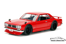 1971 Nissan Skyline GT-R JDM TUNERS Diecast 1:24 Scale Red