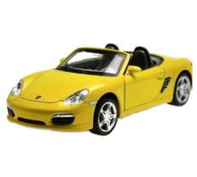 Porsche Boxster S Convertible Kinsmart Diecast 1:36 Scale Yellow KT5046D FREE SHIPPING