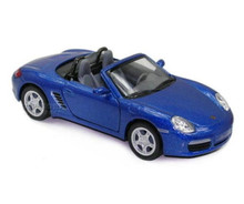 Porsche Boxster S Convertible Kinsmart Diecast 1:34 Scale Blue FREE SHIPPING